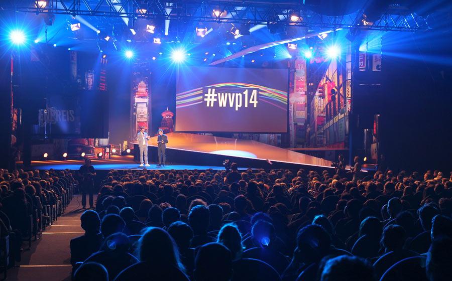 Die Bühne des Deutschen Webvideopreises 2014
