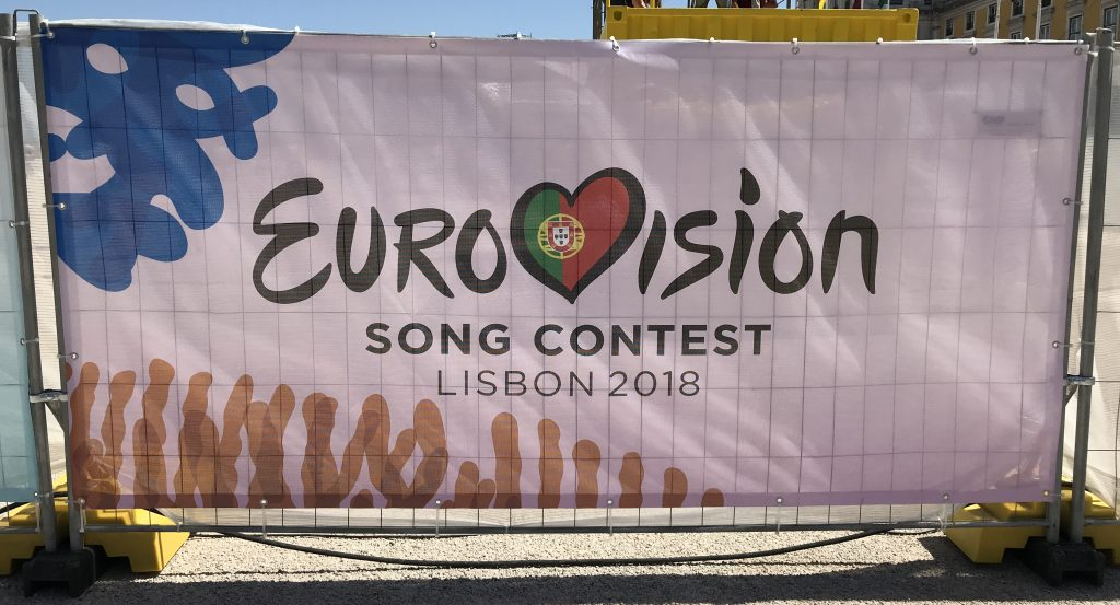 Eurovision 2018 Logo auf Bauzaun